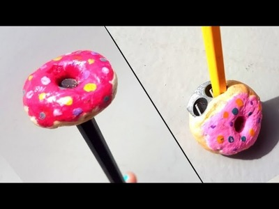 Diy BACK TO SCHOOL! How to make donut sharpener And.