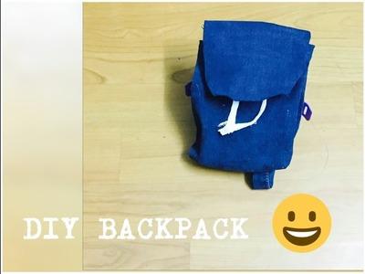 DIY Denim Backpack pencil case-Back-To-School supplies |Neha  Habn|