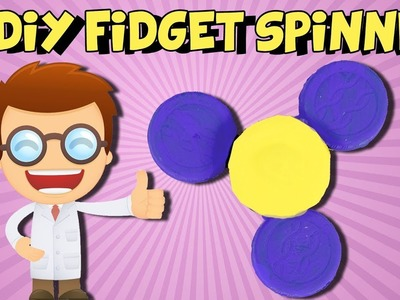 DIY Fidget Spinner Without Bearings ~ How To Make A Fidget Spinner At Home Without Bearings