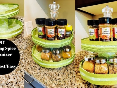 DIY Foamboard Rotating Spice Organizer- Kitchen Organization IPantry OrganizationI Reallife Realhome