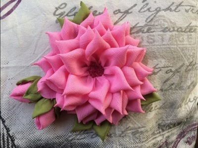 DIY How to Make a Beautiful Fabric flower.