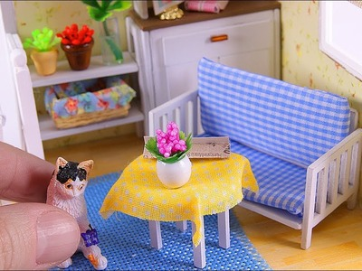 DIY Miniature Dollhouse with a Swing!