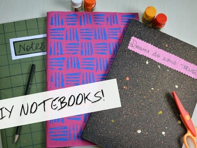 DIY Notebooks for Back to School 2017 II Indian Youtuber