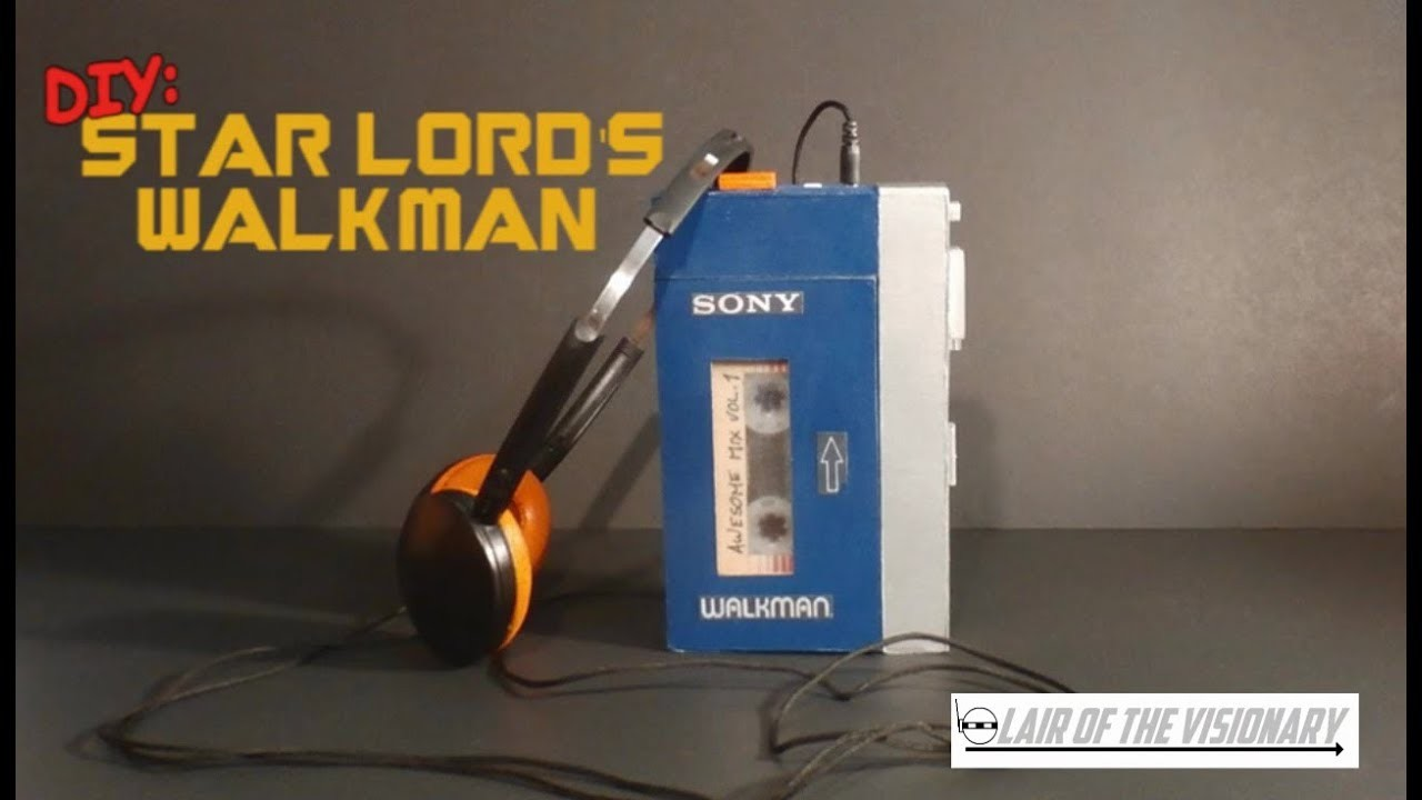 diy star lords walkman actually plays music lair of the visionary