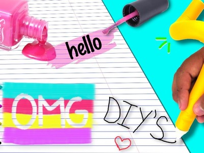DIY WEIRD SCHOOL SUPPLIES !!!!!✏️???? How to make weird school Diys!!!! Diy squishy. bendable pen !!