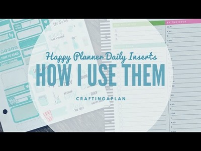 Happy Planner Daily Inserts. How I Use Them. Featuring The Planner Junkie Stickers