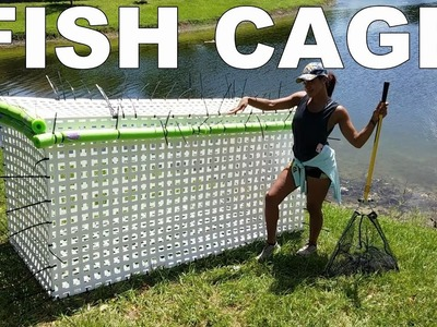 HOMEMADE MASSIVE DIY FISH CAGE! Saving my Monster Fish Pets from Hurricane Irma