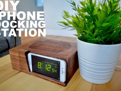 HOW TO BUILD A CELLPHONE LOUDSPEAKER DOCKING STATION || TUTORIAL