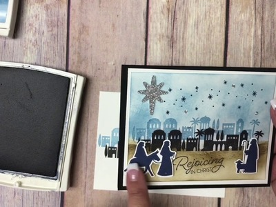 How to make a Christmas Card using the Night in Bethlehem bundle from Stampin' Up!