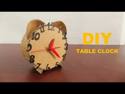 How to Make an Amazing Clock From Cardboard - DIY Cardboard Clock