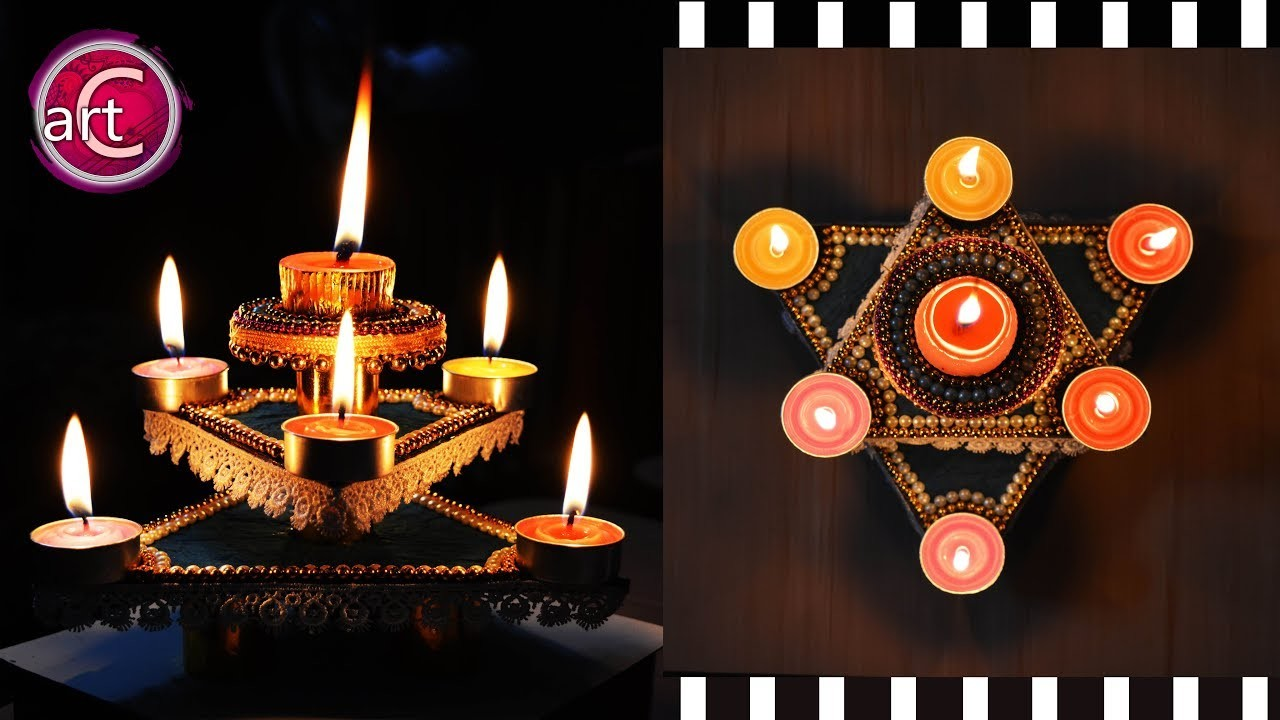 HOW TO make Diya Stand | Star Diya Stand | DIY | Art with Creativity 275