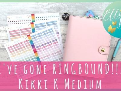 I've Gone RINGBOUND!!!!! Kikki K Medium Planner Set Up with Cocoa Daisy (mostly).