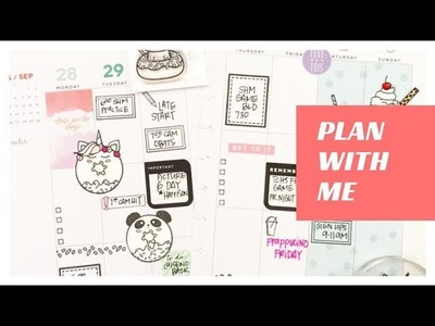 Plan With Me: August 21-27, 2017 [Lots of Stamping + Happy Planner® Stickers Style]