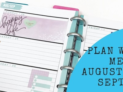 Plan with Me- Mini Happy Planner- August 28- September 3