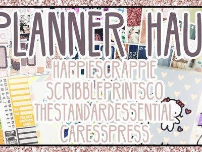 Planner Haul   HappyScrappie, ScribblePrintsCo, TheStandardEssential, +CaressPress