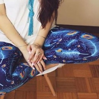 PLUS SIZE 12-20 PEACOCK LEGGINGS BUTTERY SOFT