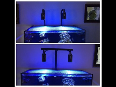 Red Sea Reefer 250 | 8020 DIY Kessil A160 Light Mount | DIY VS Kessil A Series Mounts w. Extensions