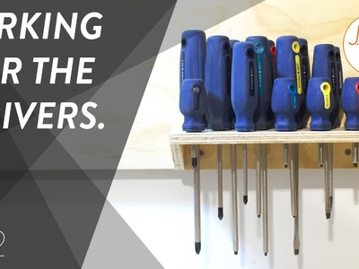 Screw Drivers - DIY EASY Tool Wall | Shop Projects - Ep. 012