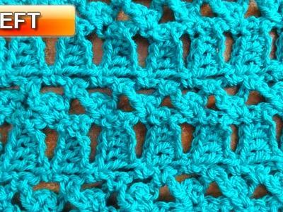 Sideways Links Crochet Stitch - Left Handed Crochet Tutorial