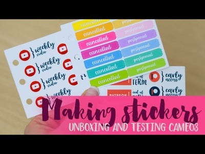 Sticker Adventures ep.2 - Making transparent custom stickers for your planner