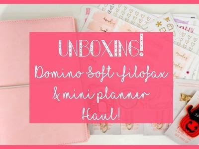 Unboxing Domino Soft Filofax Pale Pink & Mini Planner Haul. Plan with Juli