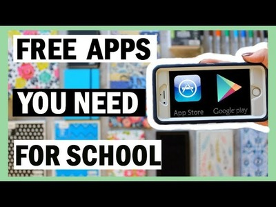 15 FREE Apps YOU NEED For Back To School 2017-18   School Apps For Studying, Organization, + More!