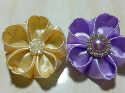 75) Tutorial mudah bunga bentuk hati || Easy Way to make Heart shaped flower