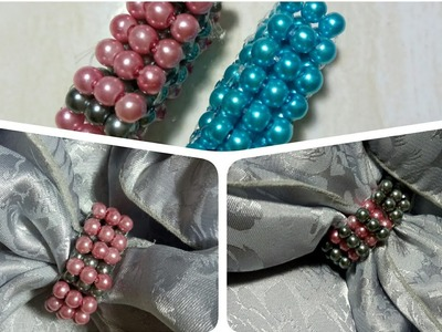 85) Tutorial Ring Hijab || Flexible 2 Colours Scarf Ring ( Model 3 )