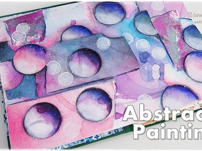 Abstract Bubble Shading Art Painting Tutorial for Beginners ♡ Maremi's Small Art ♡