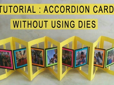 ACCORDION CARD TUTORIAL:Card for explosion box.scrapbooks