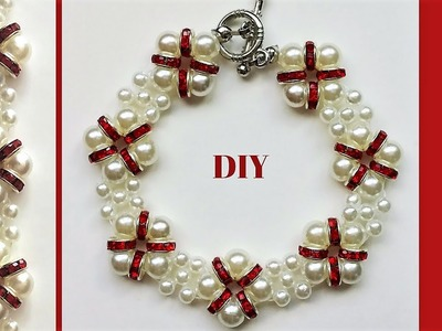 Beaded Bracelet. How to make a bracelet with beads -Easy, Elegant, Fast ! Handmade jewelry.