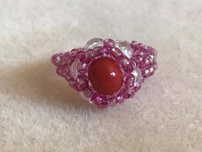 Beaded Pinky Ring  for little finger