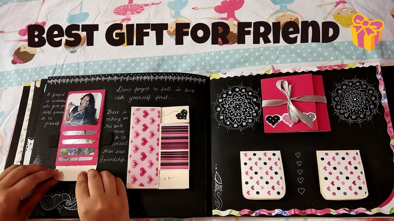 Scrapbook scrapbook tutorial waterfall flip book how to for Craft gifts for friends