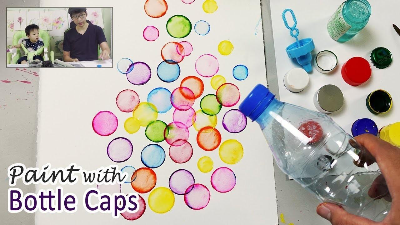 Bottle Cap Painting Technique For Beginners Basic Easy