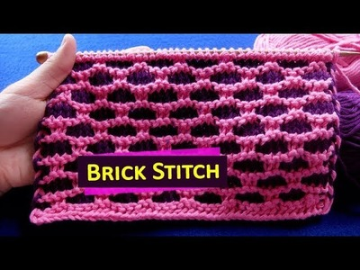 BRICK. BICK WALL - Stitch Pattern 4