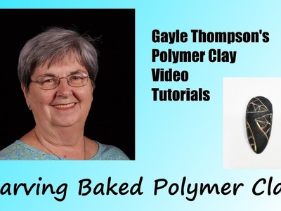Carved Polymer Clay Pendant Tutorial by Gayle Thompson