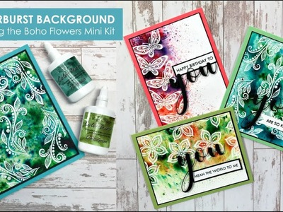 Colorburst Background with Boho Flowers