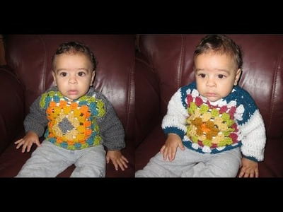 Crochet baby sweater from 6 to 12 months