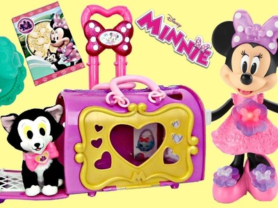 Disney Jr. Minnie Mouse Happy Helpers Pet Cat Bag Carrier, Figaro, Carry on Toy Surprises. TUYC