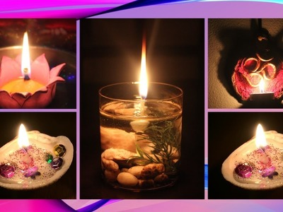DIY - Christmas lighting   4 different style Candles