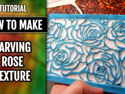 DIY How to Carve the Roses Pattern Texture sheet for polymer clay! Hand made texture sheet.