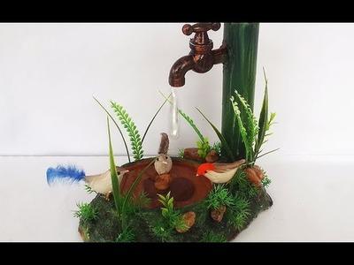 DIY Room Decor - DIY Newspaper Birds Pond | Hot Glue Gun Hacks and Waterdrops | Diwali Decorations