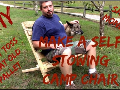 Do It Yourself, Self Stowing Camp Chair from a Recycled Pallet