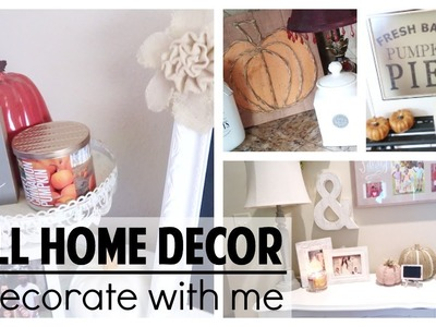 FALL HOME DECOR 2017 & DECORATE WITH ME   HAUL