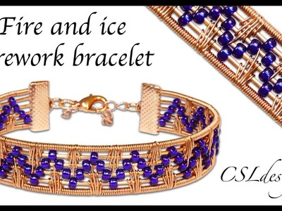 Fire and ice wirework bracelet