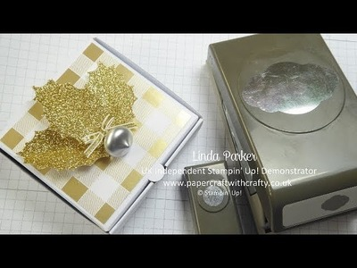 """Glitzy Holly Leaves made with the Stampin' Up! Pretty Label and 1.2"""" inch Circle Punches"""