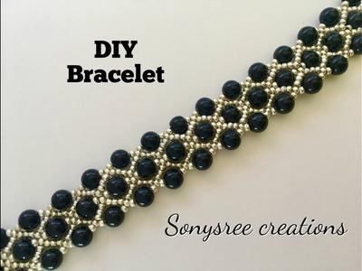 Gorgeous Beaded Bracelet ( One Needle Method) ????