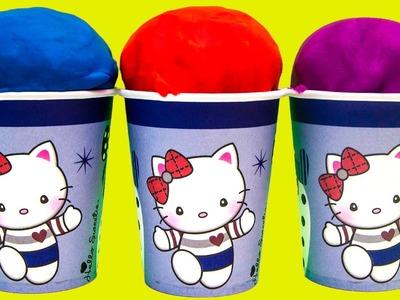 Hello Kitty Foam clay Surprise Eggs Ice Cream cups