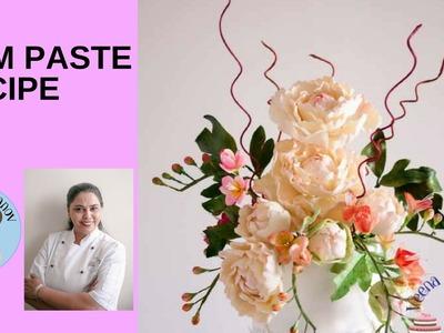 Homemade Gum Paste Recipe for Sugar Flowers - Gumpaste Recipe