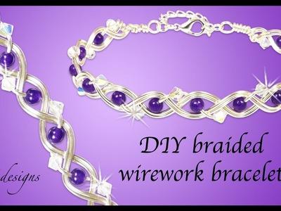 How to braided wirework bracelet